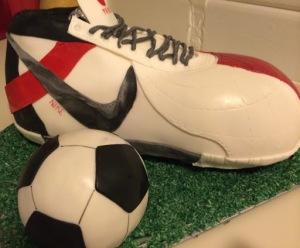 fodboldstøvlekage